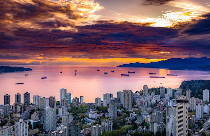 Vancouver, Canada, at sunset