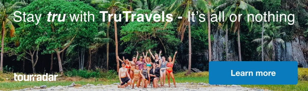 TruTravels banner image with group of travellers