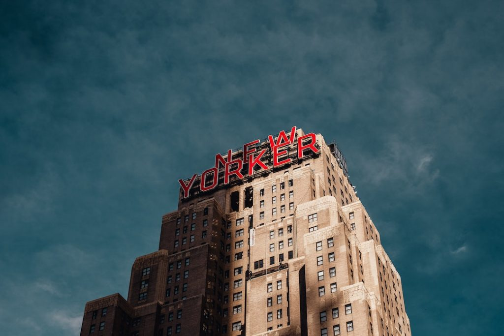 Top of the New Yorker Hotel in New York City
