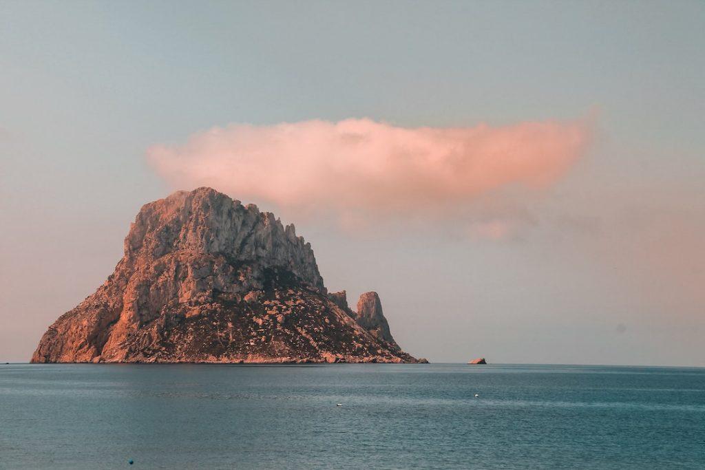 Island of Es Vedra in Ibiza Spain