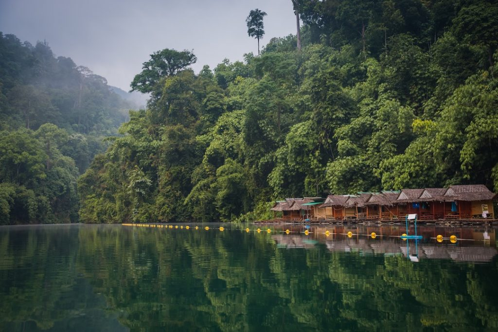 Floating bungalows in Khao Sok National Park, Thailand