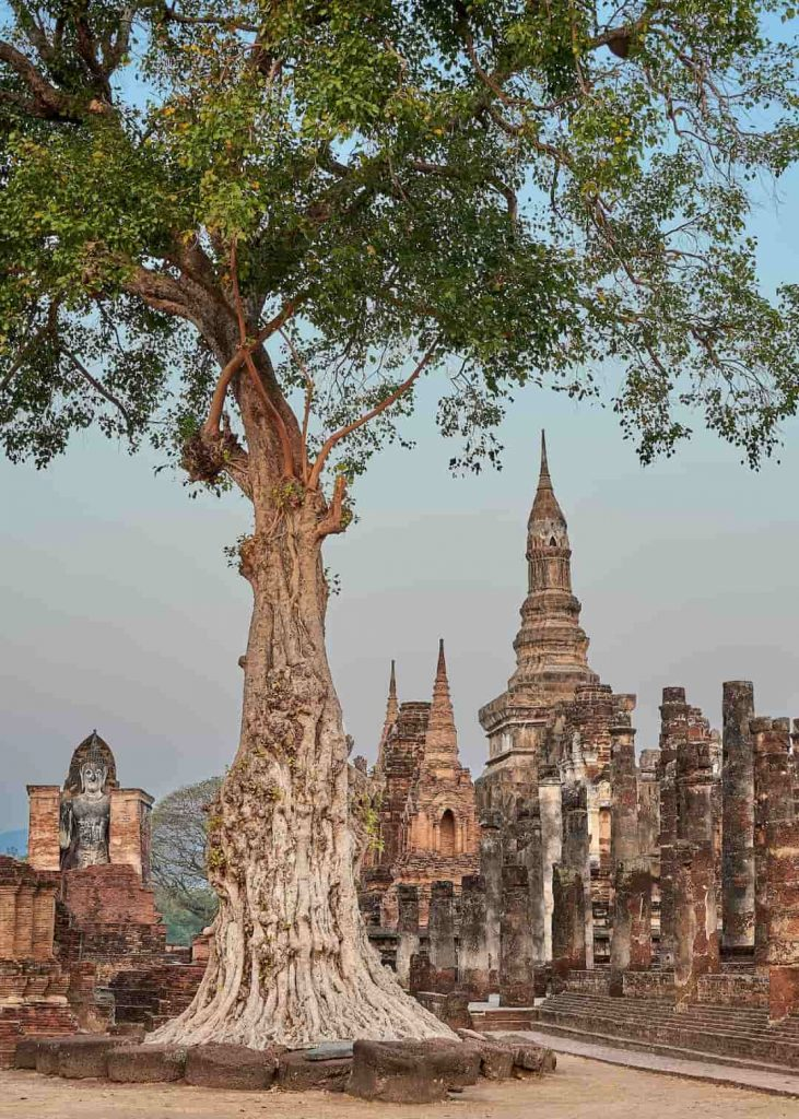 Ancient temple ruins in Sukhothai, Thailand