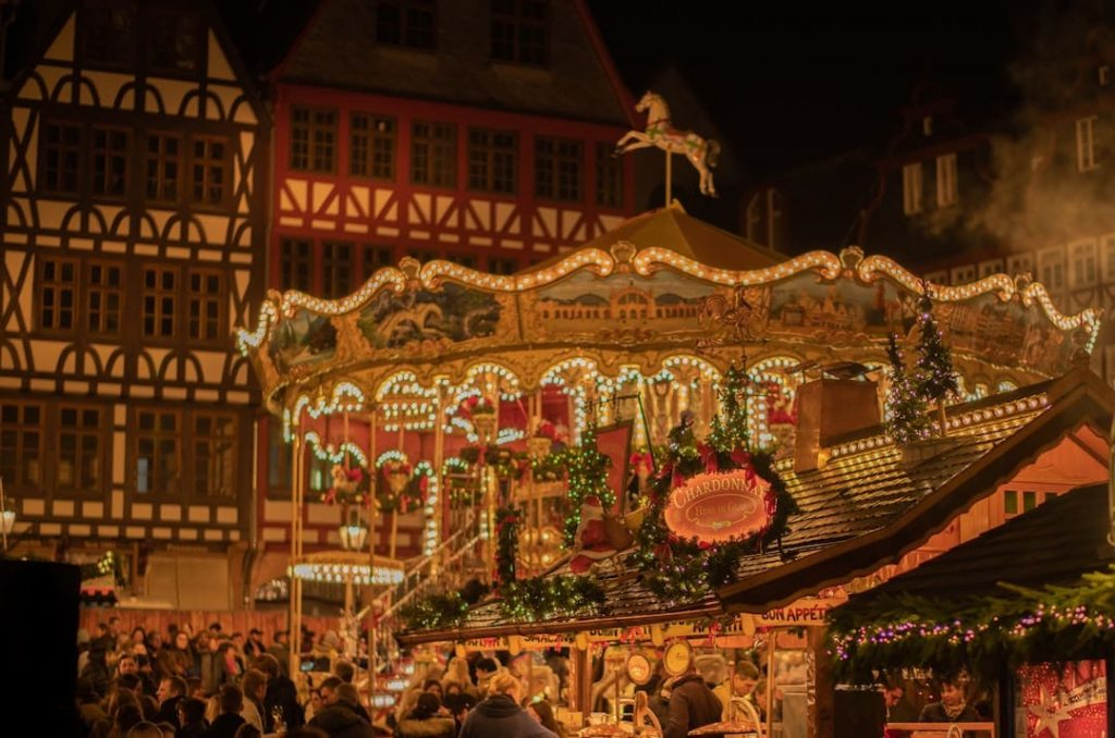 Carousel at a Christmas market in Germany