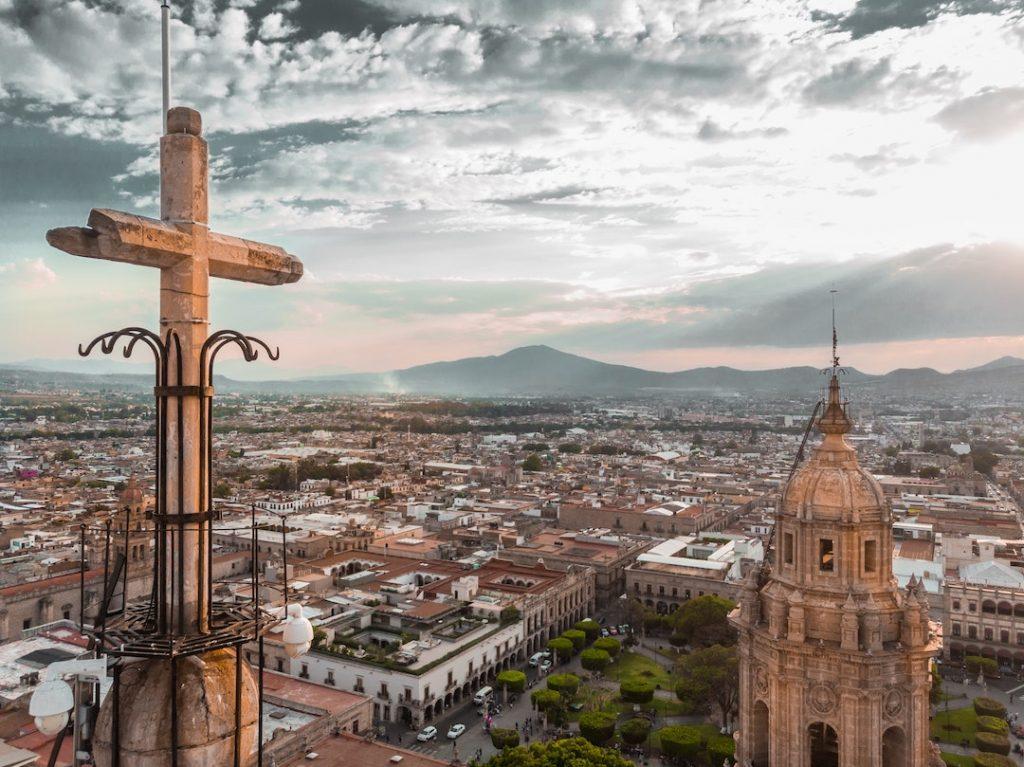 Aerial view of Morelia, Mexico
