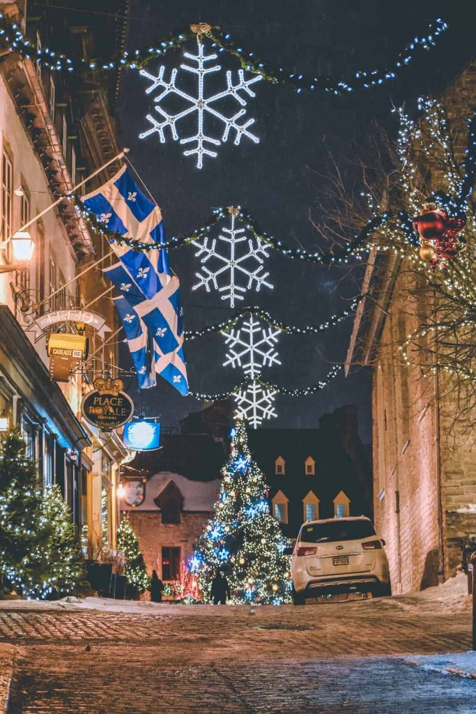 Christmas decorations in Quebec City, Quebec