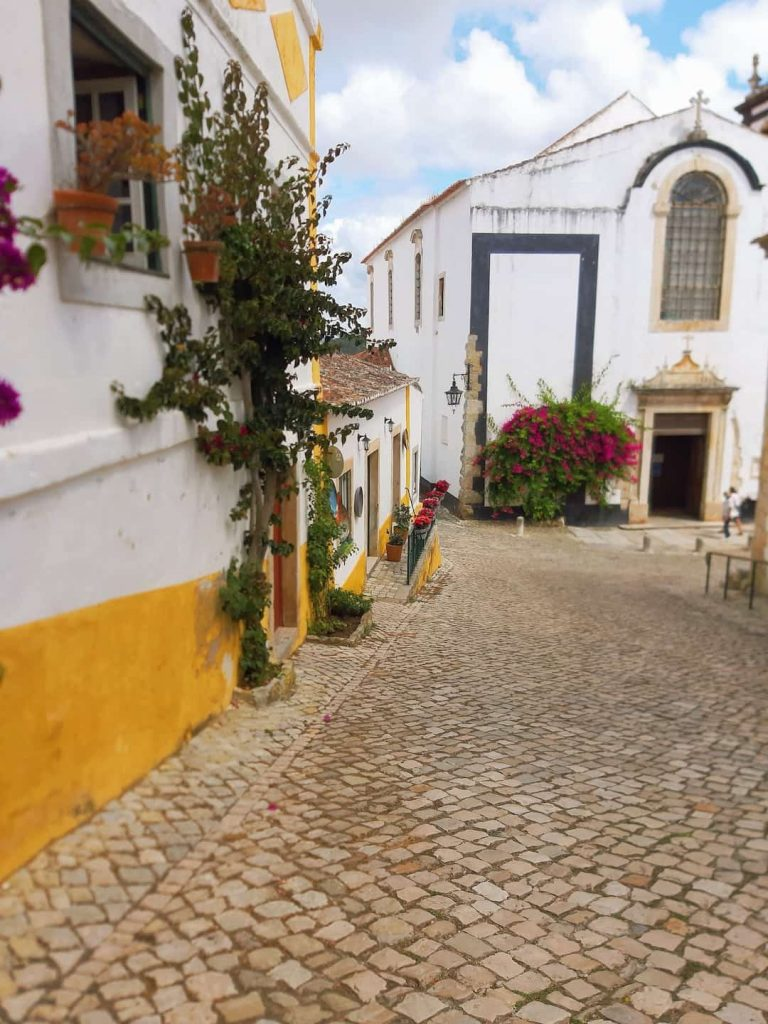 Cobbled streets of Obidos, Portugal