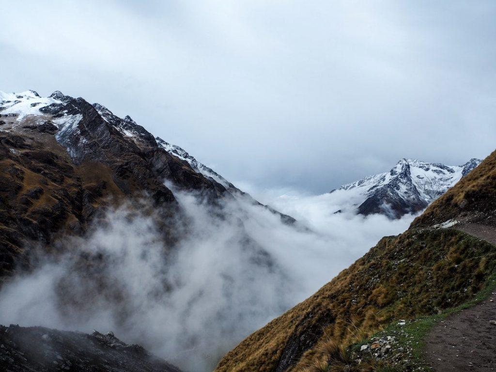 Mountain peaks from Salkantay trail, Peru