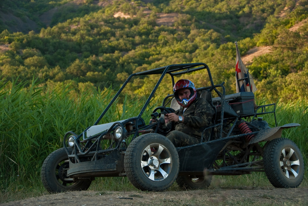 A modern example of a mountain buggy. Photo credit: Serge Segal