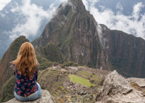 girl and machu picchu